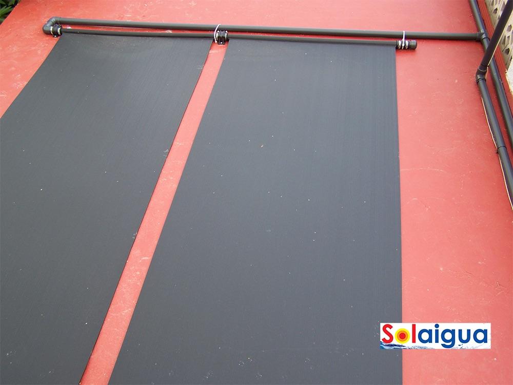 Climatización de piscina con paneles de poliprolineo